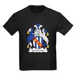 Grandison Family Crest Kids Dark T-Shirt