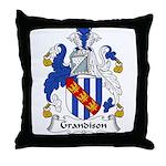 Grandison Family Crest Throw Pillow