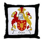 Grace Family Crest Throw Pillow
