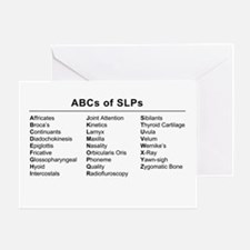ABC's of SLP's Greeting Card