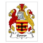 Gower Family Crest Small Poster