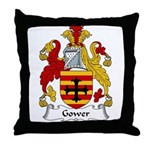 Gower Family Crest Throw Pillow