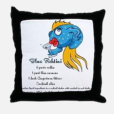 Blue Fishtini Throw Pillow