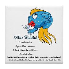 Blue Fishtini Tile Coaster