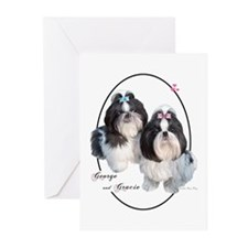 G & G Cameo (Black) Greeting Cards (Pk of 10)