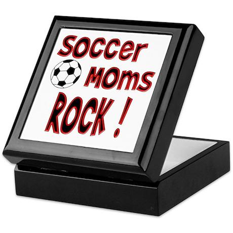 Soccer Moms Rock ! Keepsake Box