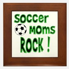 Soccer Moms Rock ! Framed Tile