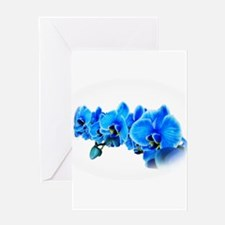Ice blue orchids Greeting Cards