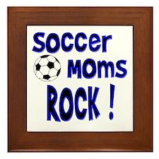 Soccer Moms Rock ! Framed Tile