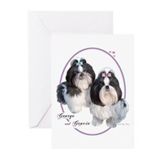 G & G Cameo (Blue/Pink) Greeting Cards (Package of