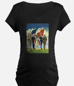 Vintage 4th of July Maternity T-Shirt