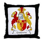 Goodwin Family Crest Throw Pillow