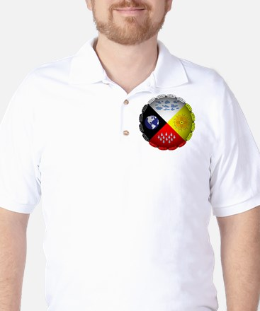 Medicine Wheel Golf Shirt