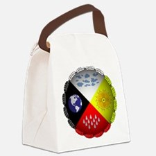 Medicine Wheel Canvas Lunch Bag
