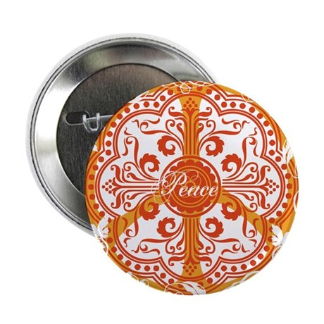 """funky peace sign 2.25"""" Button (100 pack)"""
