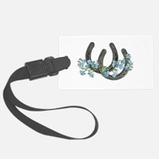 Forget me not horseshoes Luggage Tag