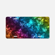 butterfly rainbow Aluminum License Plate