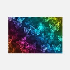 butterfly rainbow Rectangle Magnet