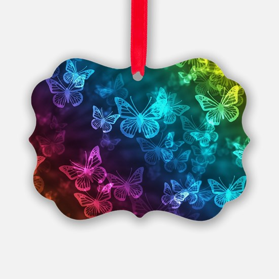 butterfly rainbow Ornament