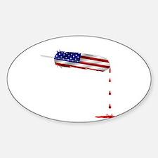 Eagle Feather Flag Decal