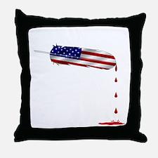 Eagle Feather Flag Throw Pillow