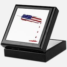 Eagle Feather Flag Keepsake Box