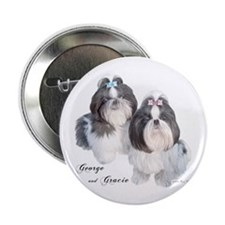 """George & Gracie 2.25"""" Button (100 pack)"""