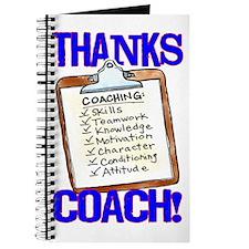 Thanks Coach! Clipboard Journal