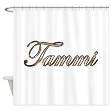 Gold Tammi Shower Curtain