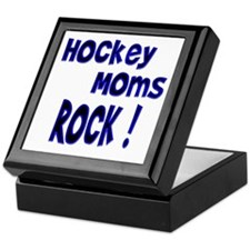Hockey Moms Rock ! Keepsake Box