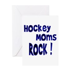 Hockey Moms Rock ! Greeting Card