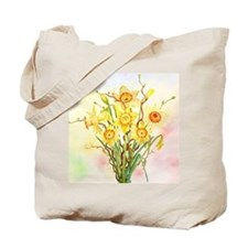 Watercolor Daffodils Yellow Spring Flower Tote Bag