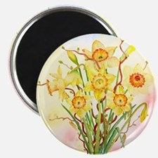 Watercolor Daffodils Yellow Spring Flowers Magnet