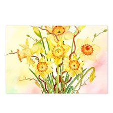 Watercolor Daffodils Yell Postcards (Package of 8)