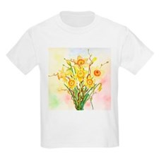 Watercolor Daffodils Yellow Spring Flowers T-Shirt
