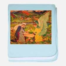 Vintage Religious Tapestry baby blanket