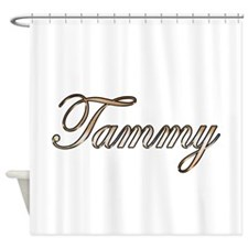 Gold Tammy Shower Curtain