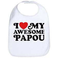 I Love My Awesome Papou Bib