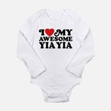 I Love My Awesome Yia Long Sleeve Infant Bodysuit