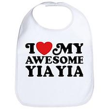 I Love My Awesome Yia Yia Bib