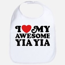 I Love My Awesome Yia Yia Bib