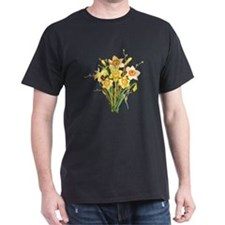 Watercolor Daffodils Spring Flowers  T-Shirt
