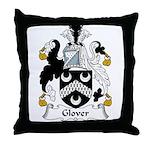 Glover Family Crest Throw Pillow