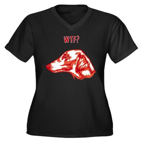Azawakh Women's Plus Size V-Neck Dark T-Shirt