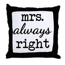 Unique Mr right and mrs always right Throw Pillow