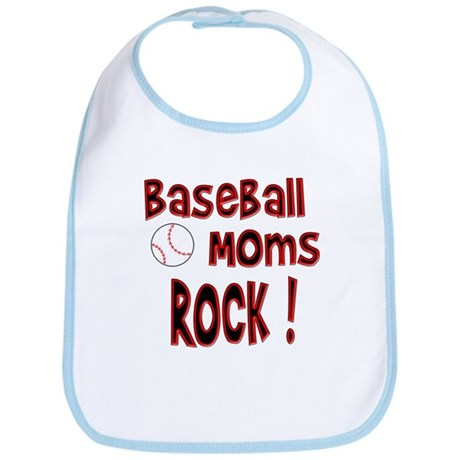 Baseball Moms Rock ! Bib