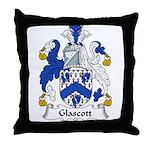 Glascott Family Crest Throw Pillow