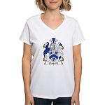 Glascott Family Crest Women's V-Neck T-Shirt