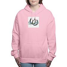Forget me not horseshoes Women's Hooded Sweatshirt