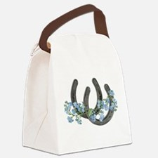 Forget me not horseshoes Canvas Lunch Bag